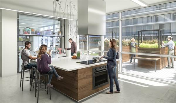 daniels_waterfront_rendering_kitchen_library